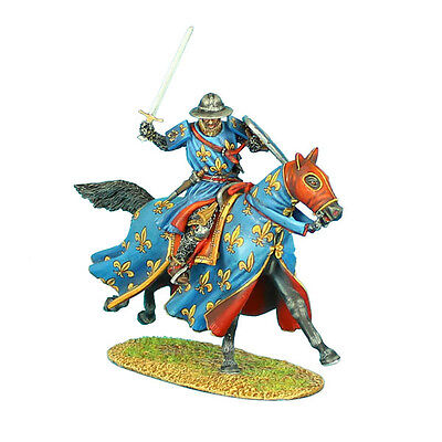 FIRST LEGION CRU052 - Mounted Crusader French Knight Charging Painted Metal