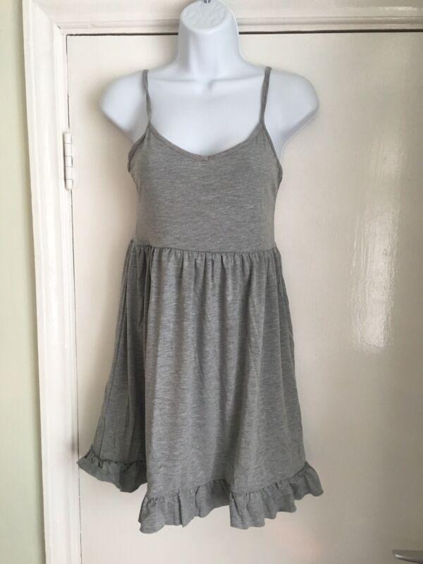 Erfinderisch Bnwt Boohoo Size 12 Grey Monica Frill Hem Night Dress Sleeveless Strappy
