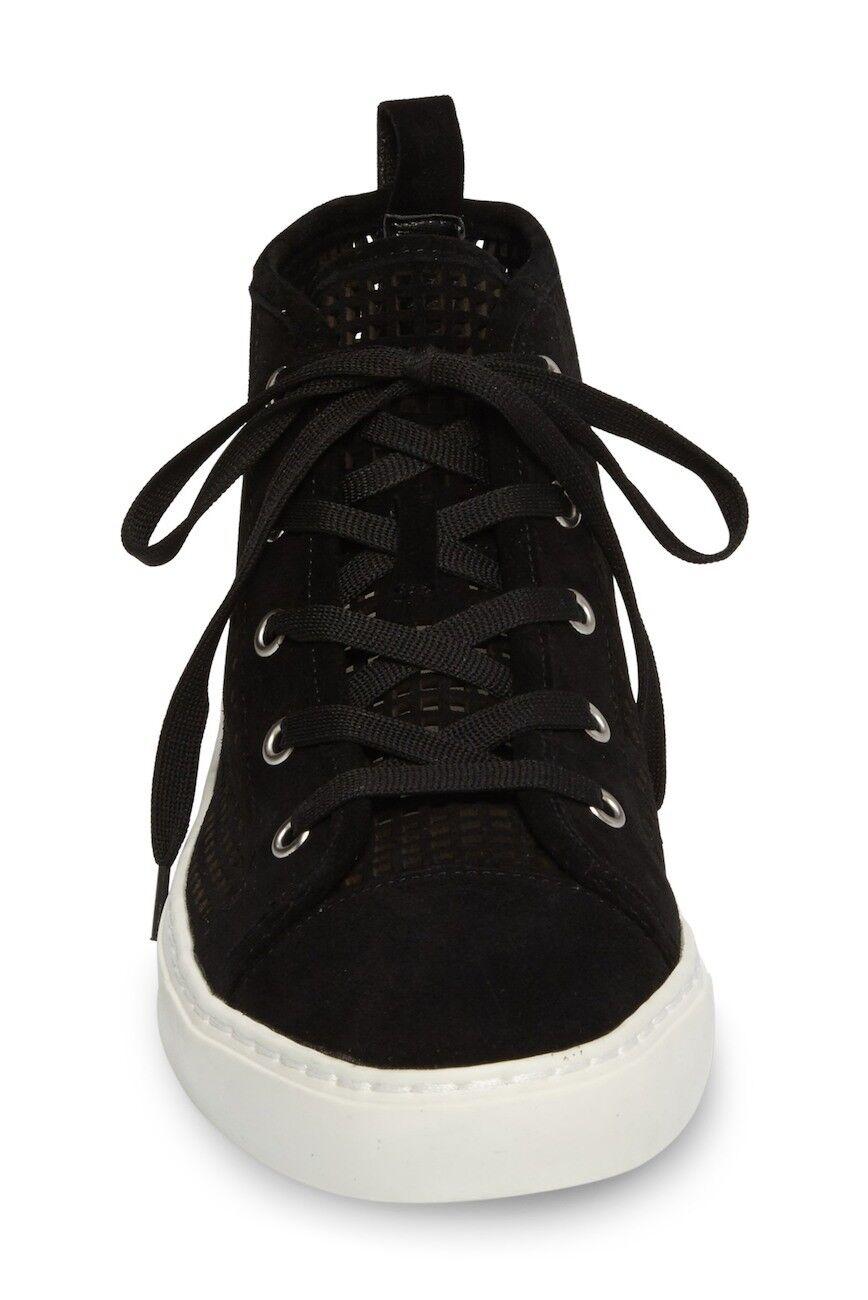 NIB 1.State Dulcia Perforated Perforated Perforated High-Top Leather scarpe da ginnastica Dimensione 6 nero Laser Cut befe44