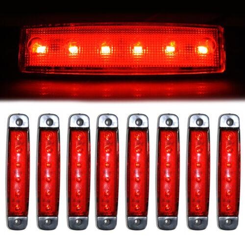 8 Pcs 6 LED Side Marker Indicator Lights Lamps 24V For Caravan HGV Van Chassis
