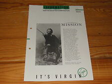 INFORMATION - IT'S VIRGIN 1/1987 / PROMO-HEFT MIT THE MISSION, XTC, HEAVEN 17