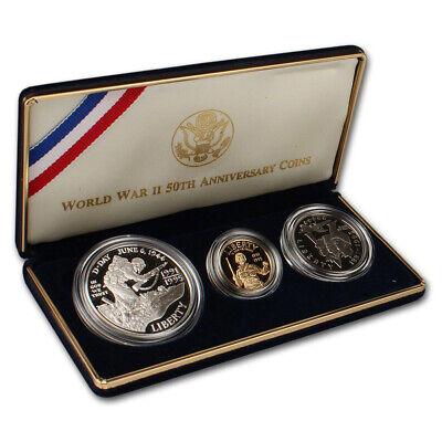 1993 W $1 World War II Commemorative Silver Dollar US Coin Choice Proof