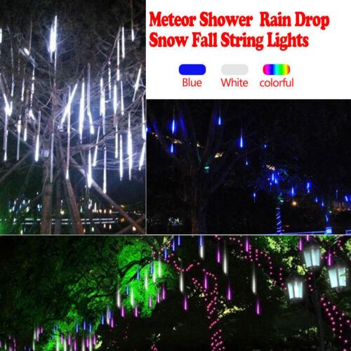 8X Falling Rain Drop Icicle Snow Fall String LED Cascading Xmas Tree Lights D