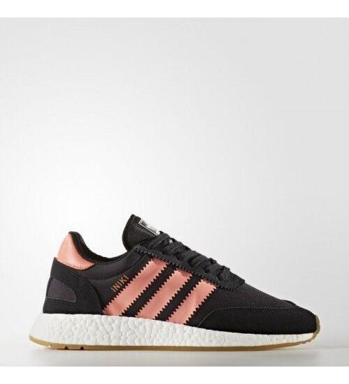Women's Adidas Iniki Boost Runner Core Black/Semi Flash Orange BY9098 SIZE 6