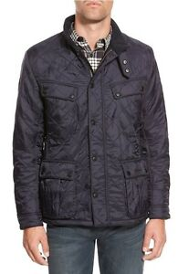 Barbour-Mens-Ariel-Regular-Fit-Polarquilt-Navy-Coat-Size-Small