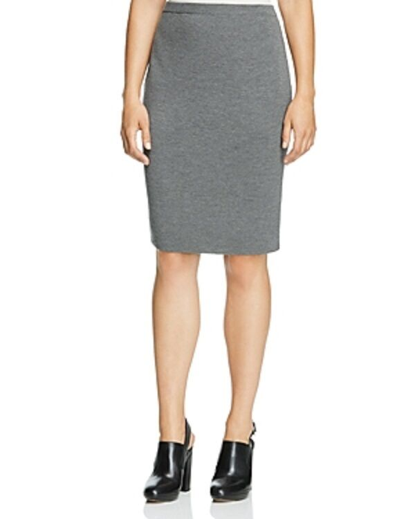 NWT Eileen Fisher Knee Length Wool Crepe Knit Skirt Ash Size XL MSRP