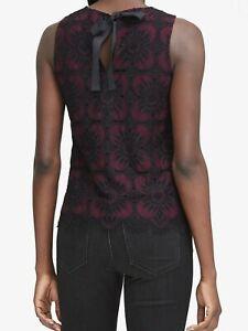 NWT-Banana-Republic-69-5-Women-Lace-Tie-back-Top-Size-XS