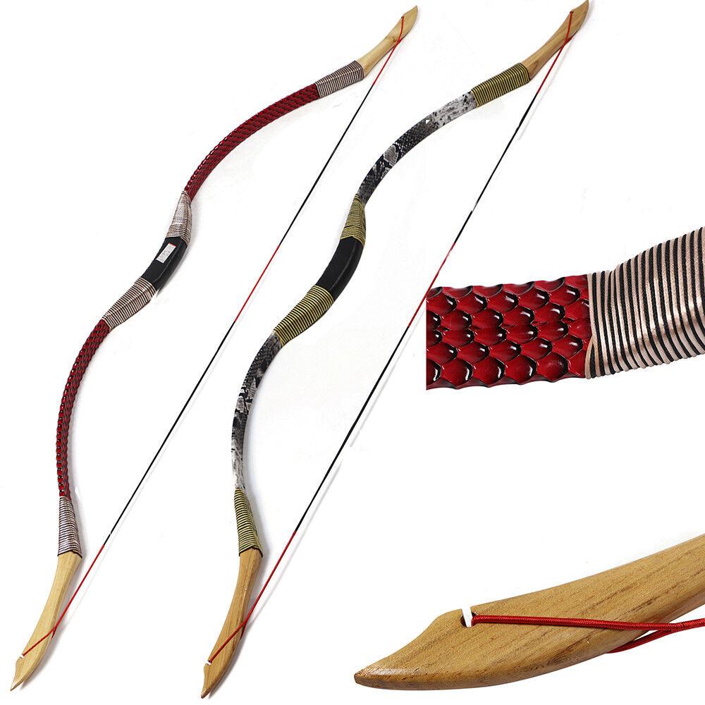 30lbs tradicional 49  Tiro con Arco Recurvo Arco Longbow Tiro objetivo de caza con arco