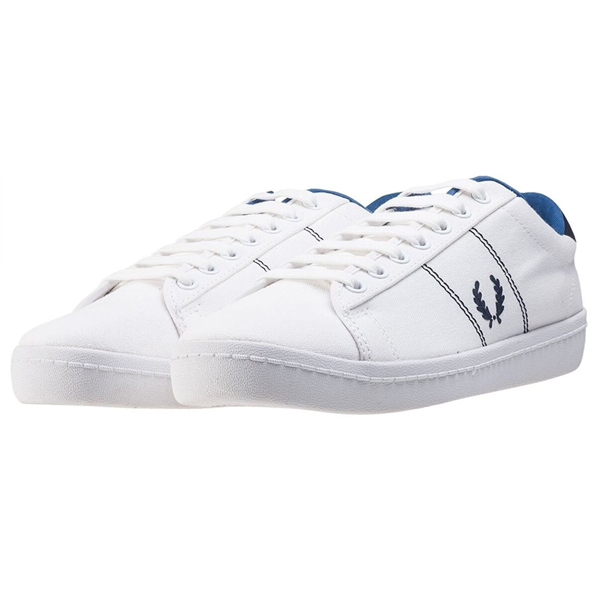 Scarpe casual da uomo  uomo Fred Perry Shoes White B2 Tennis Shoes White Sneakers New