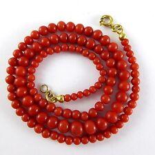 11,9 gr red Art Deco Korallenkette Koralle Kette Edelkoralle Coral Necklace