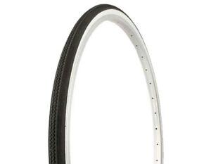 NEW-BlKE-DURO-TIRE-27-034-x-1-1-4-034-Black-White-Side-Wall-HF-153-Cycling-Cruiser