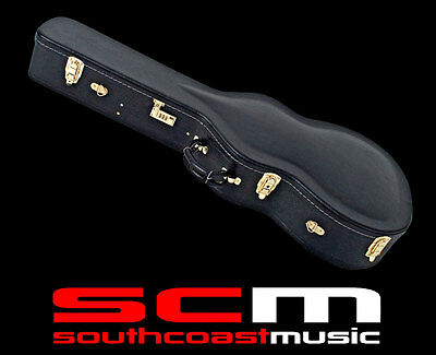 premium acoustic guitar hard case dreadnought plush lined hardcase ebay. Black Bedroom Furniture Sets. Home Design Ideas