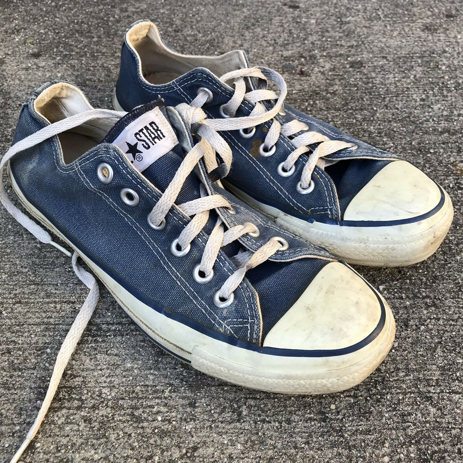 Converse All Star Vintage Made In USA shoes 6.5 M 8.5 Women's 8 1 2 bluee