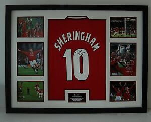 19da1cea8 Image is loading Teddy-Sheringham-Signed-amp-FRAMED-Jersey-Manchester-United -