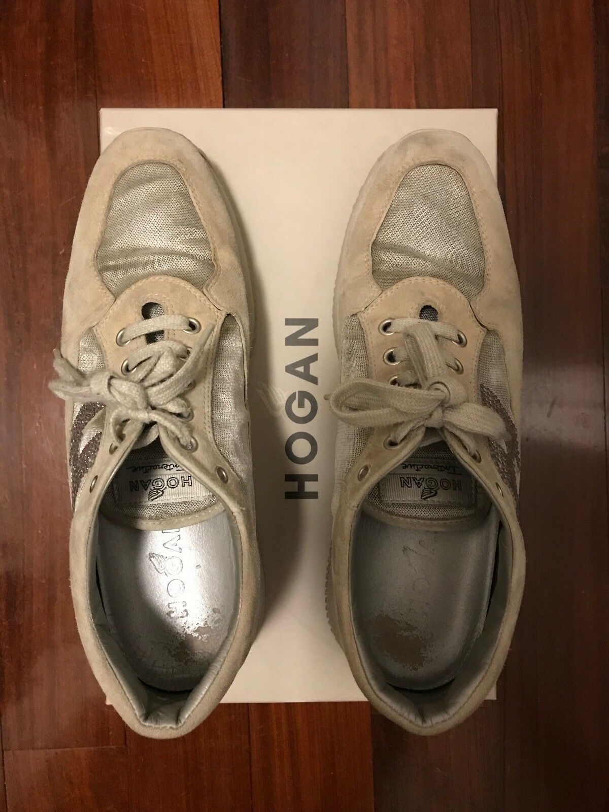 Hogan Interactive sneakers color beige e grey Tg.38,5  ORIGINALI