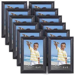 Buy 12 Pack Picture Frames 4 X 6 Inch Bulk Set Black Wall Mount