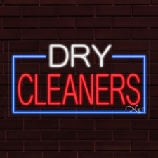 Brand New Dry Cleaners Withborder 37x20x1 Inch Led Flex Indoor Sign 31072