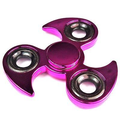 2 x Finger Hand Fidget Spinner Pink metallic Präzisions Kugellager Top Spin new