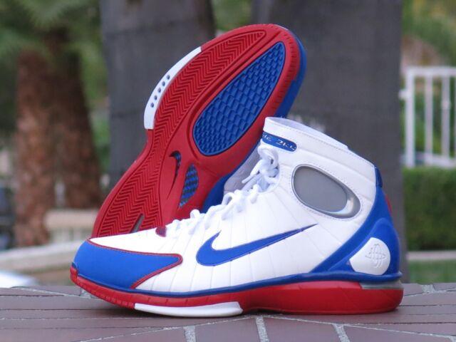461a3025e9fd Mens Nike Air Zoom Huarache 2k4 All Star Retro Kobe White Blue Red ...