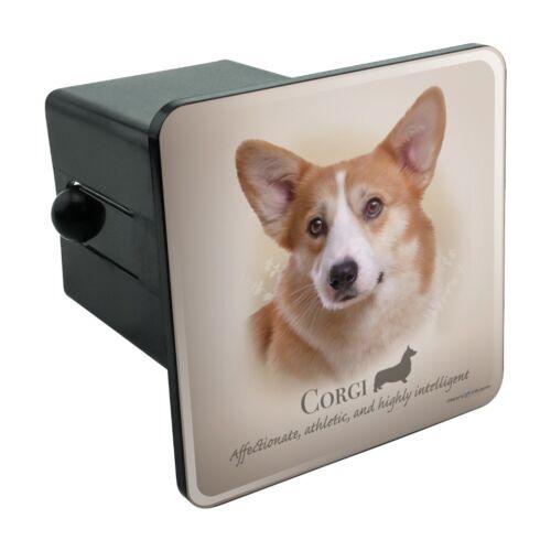 Corgi Dog Breed Tow Trailer Hitch Cover Plug Insert