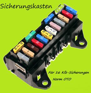 16 fach Kfz Sicherungshalter Sicherungsbox Sicherungskasten Pkw Lkw Sicherungen