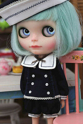 Lovable Little Sailor set for Kenner Blythe doll cloths outfits Deep Blue pants