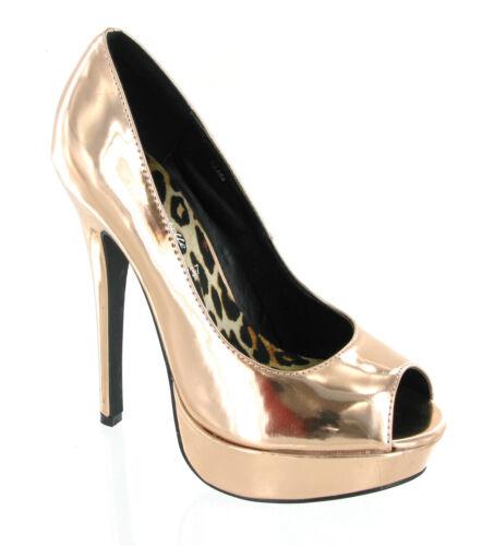 Tacón Salón 8 Mujer Uk Fiesta Plataforma Peep Zapatos De Alto 3 toe OHYHqdw