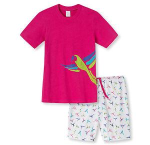 622a5fdbb7 Das Bild wird geladen SCHIESSER-Maedchen-Schlafanzug-Pyjama-kurz-in-pink-Gr-