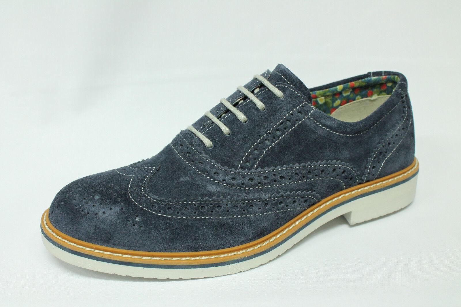 Stringate Igi&co 1106200 camoscio blue Made in  listino - 20%