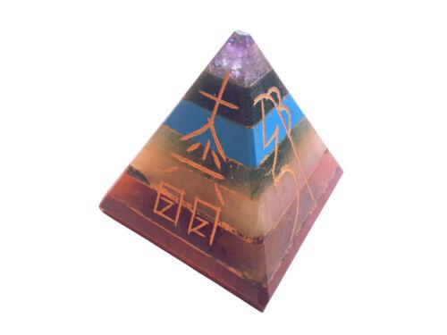 Gebundene 7 Chakra Pyramide mit Reiki Symbolen B-WARE