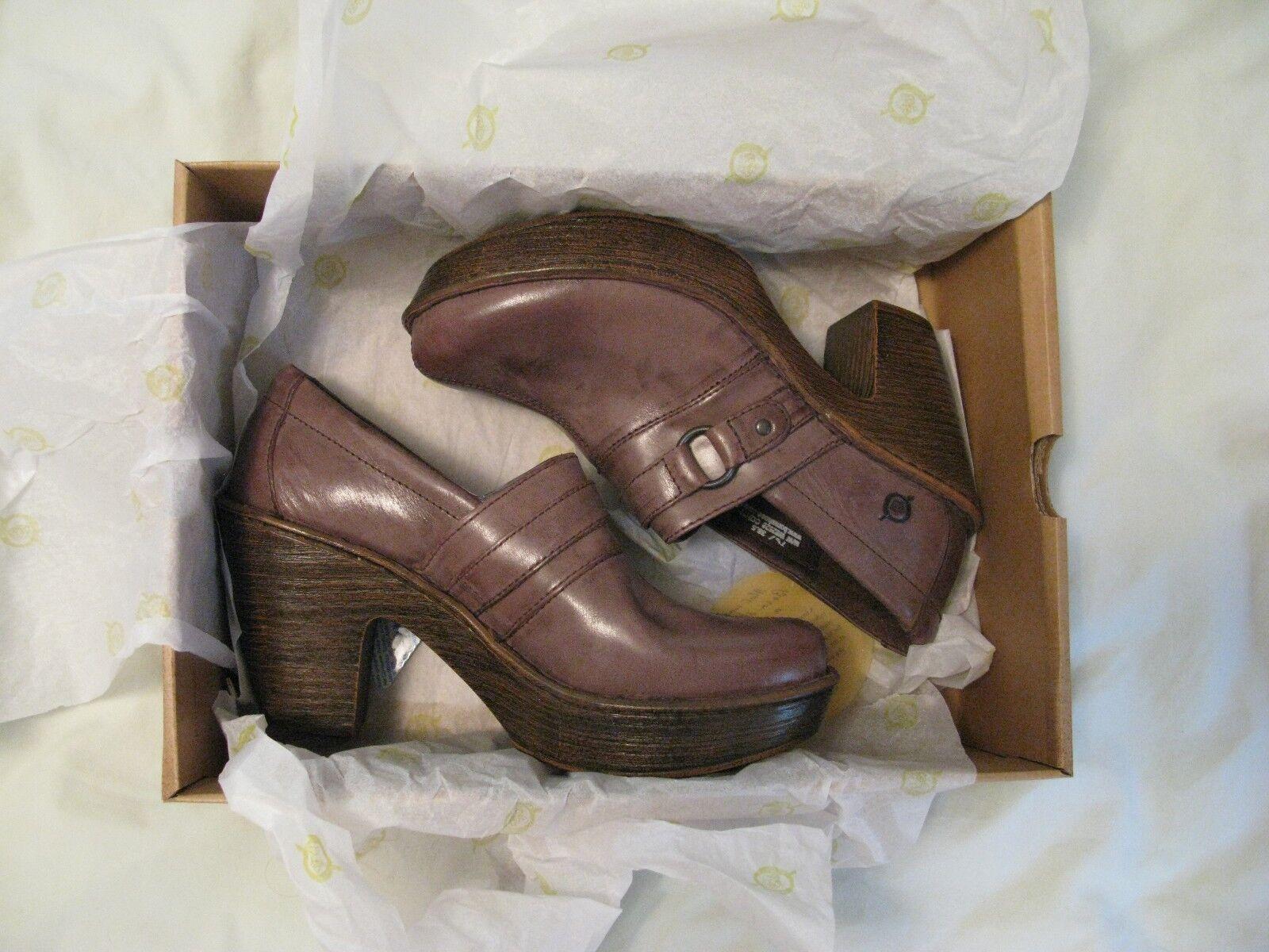economico e di alta qualità Born 'Haddon' Platform Heels Sz 7.5 7.5 7.5 Dark Marrone - Gorgeous Style  Rare & HTF  supporto al dettaglio all'ingrosso