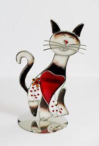 Deko-Figur-mehrfarbige-Katze-mit-Herz-17-cm-Tiffany-Glas-Valentinstag-Geburtstag