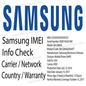 Details about Check Samsung imei info - Carrier Network Country Warranty  Info Check Fast