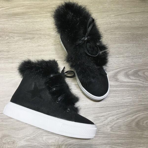 stivali stivaletti bassi scarpe anfibi 4 cm nero lacci comodi simil pelle 9629