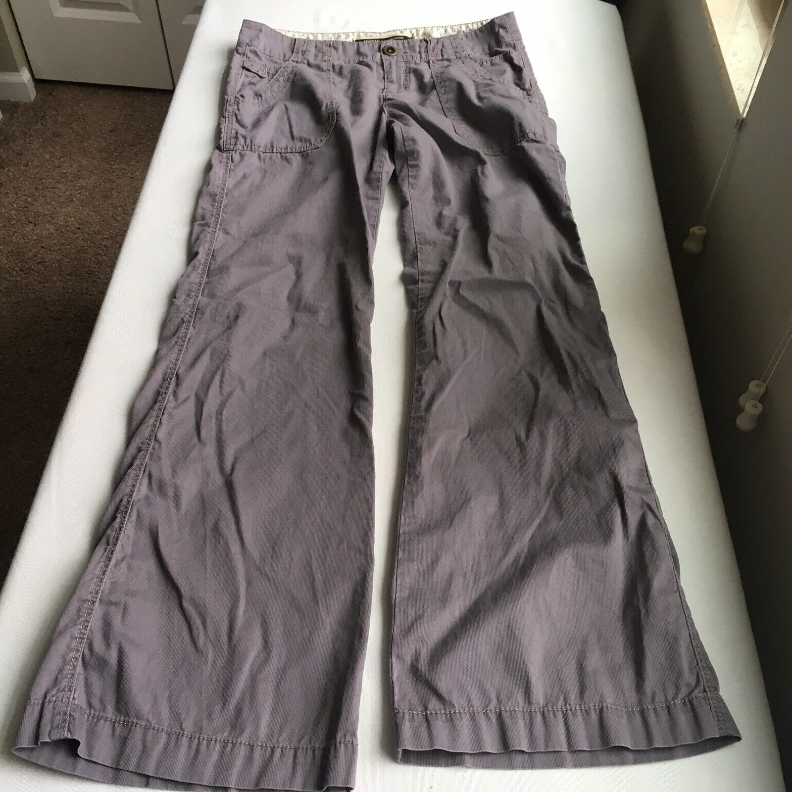 Anthropologie Daughters of the Liberation Cotton Ribbed Trousers - Grey - Size 2
