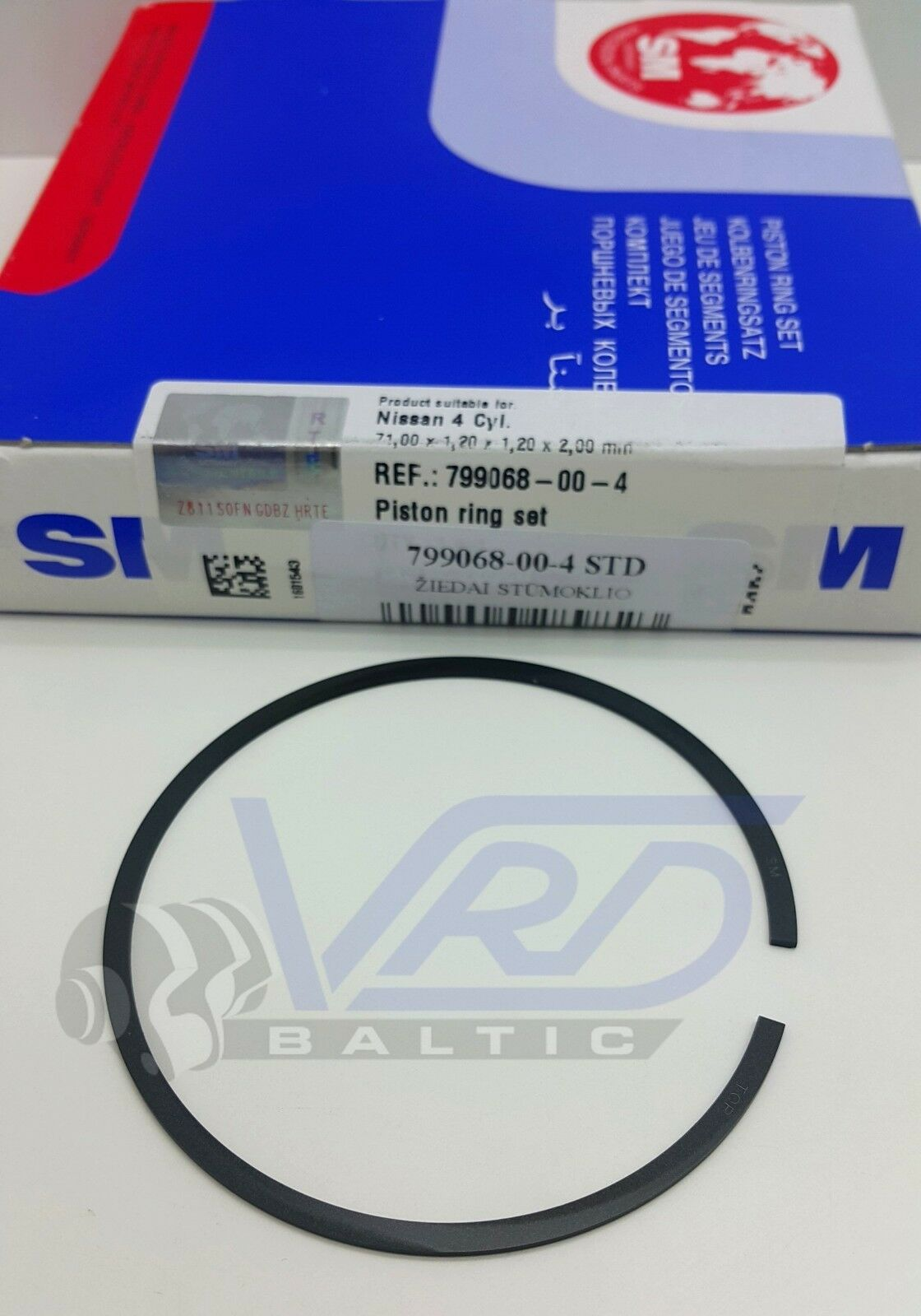 PISTON RINGS SET STD FOR TOYOTA ECHO VITZ YARIS 1.0 16V 1SZ-FE 4 CYL