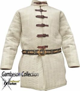 X-Mas Gift Thick Padded Medieval Gambeson  costumes arming jacket  for theater