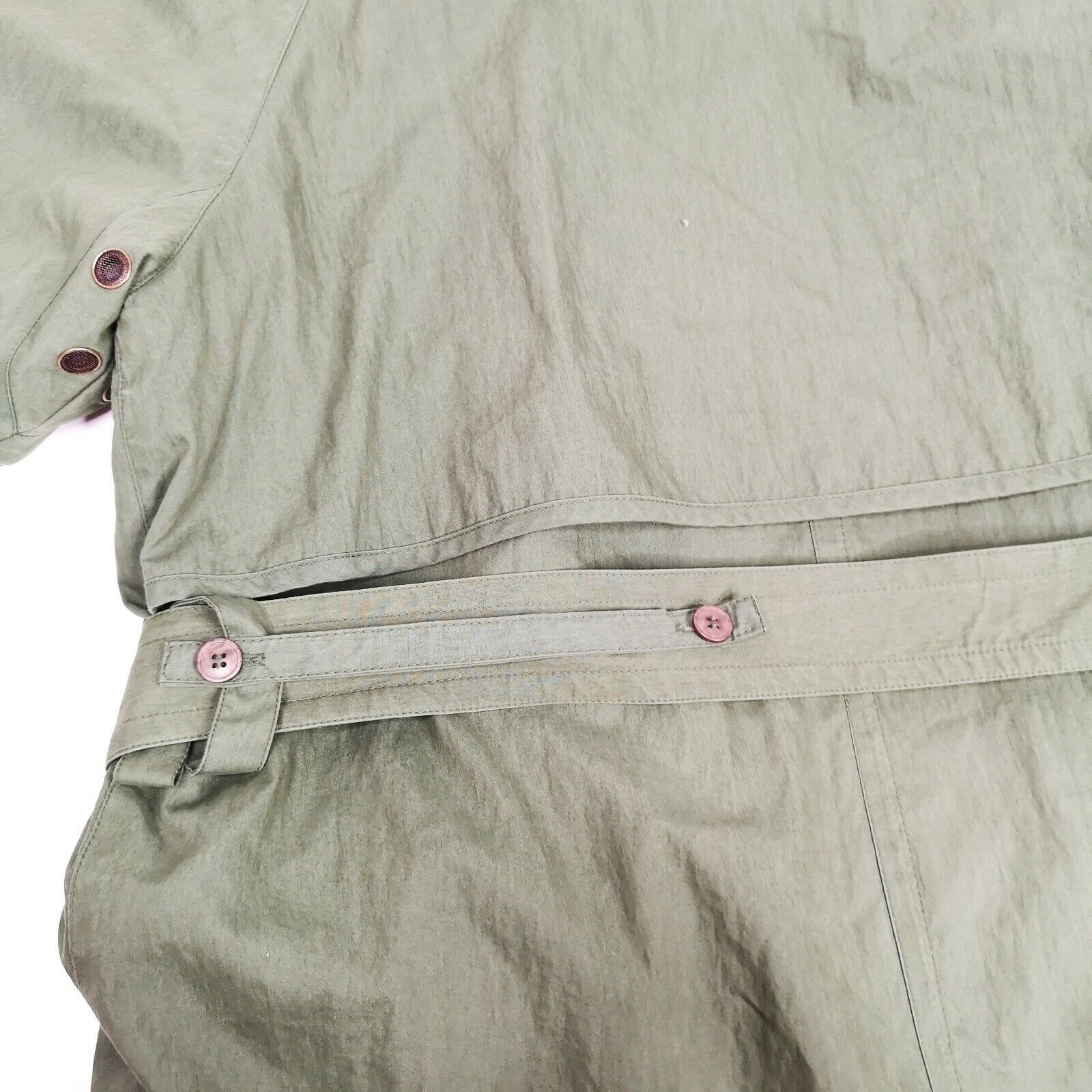 MISTY HARBOR Trench Coat Jacket 8 Olive Green - image 9