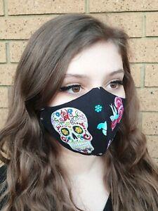 Cotton Handmade Face Mask Washable Triple Layer Made In Australia Ebay