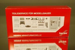 Herpa 083904 Fahrerhaus MAN TGX XLX Euro 6 mit WLB & Dachspoiler Inhalt: 2 Stück