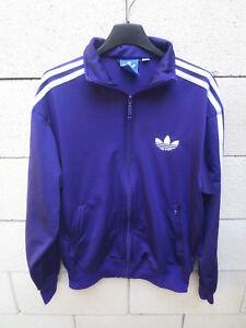 Détails sur Veste ADIDAS Trefoil rétro vintage violet sport tracktop jacket giacca S