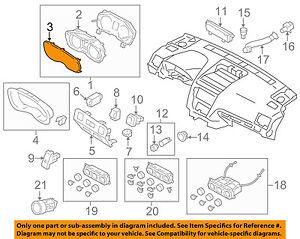 subaru oem 14 16 forester dash gauge speedometer cluster lens rh ebay com