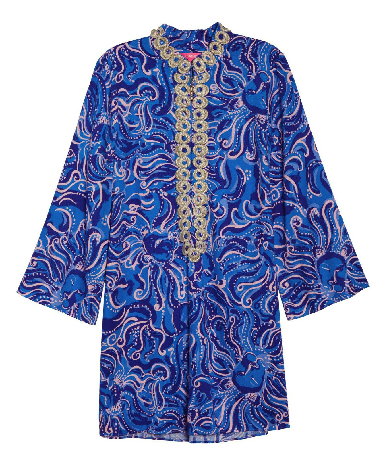 c3e59dca12980f Lilly Pulitzer NWT Gracelynn Stretch Stretch Stretch Tunic Dress Coastal  bluee Whispurr 5a0720