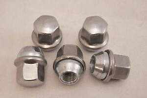 5-New-Dodge-Challenger-Factory-OEM-Stainless-Polished-Lug-Nuts-14x1-5-6509873AA