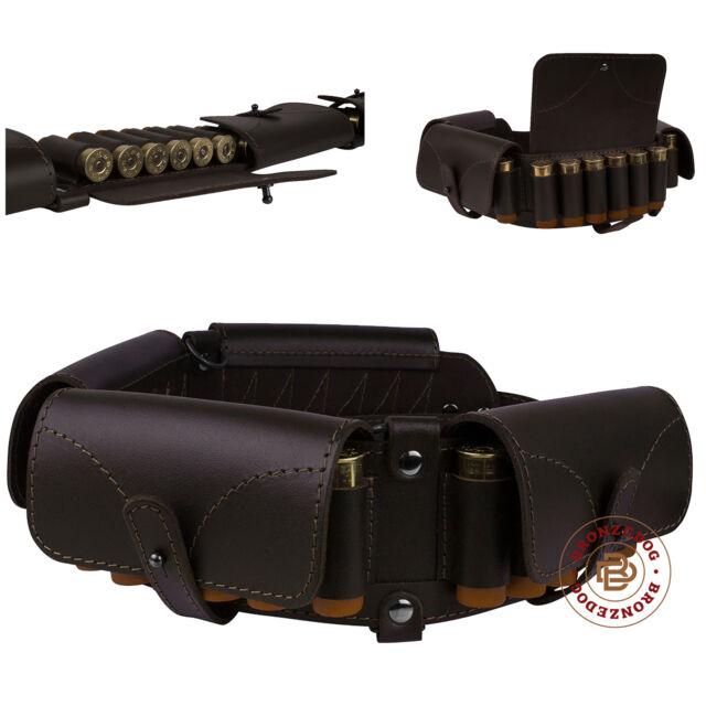 Leather Cartridge Belt Holder 24 x 12 Ga Shotgun Shell Bandolier Bandoleer