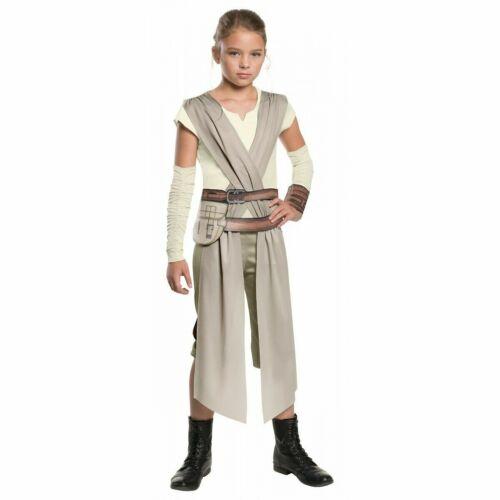 Rey Costume Kids Star Wars The Force Awakens Halloween Fancy Dress NEW