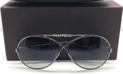 Gray Lens Sunglasses Tom Ford Georgette TF 154 12B Silver Gunmetal Black