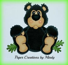 Craftecafe Mindy Outdoors bear premade paper piecing for scrapbook page album