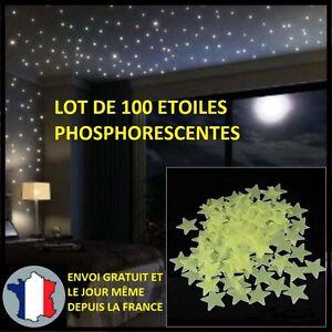 100X-ETOILES-PHOSPHORESCENTES-DECORATION-MURS-PLAFOND-CHAMBRE-ENFANT-BRILLE-NOIR