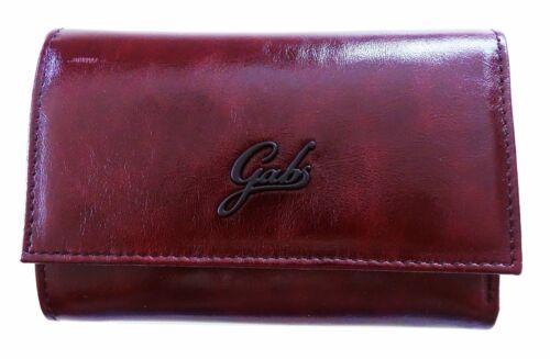 Portafoglio Gabs GYMONEY 05 bordeaux vera pelle zip made in Italy donna 16x10...